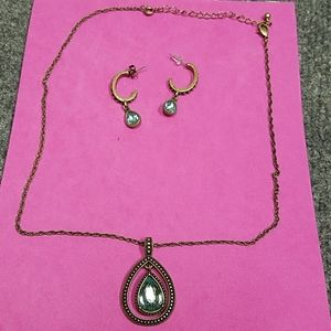 Bronze Necklace with Earrings
